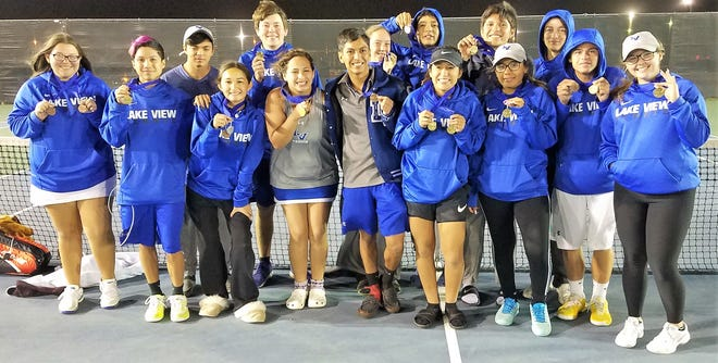 The Lake View High School tennis team had a strong showing at the District 5-4A Tournment last weekend in Big Spring.