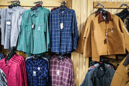 Palmer Feed & Supply also sales clothing, including jackets and hats.