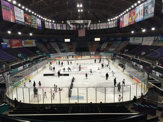 """In addition to youth leagues, the Shreveport Mudbugs hold many free clinics like """"Play Hockey for Free"""""""