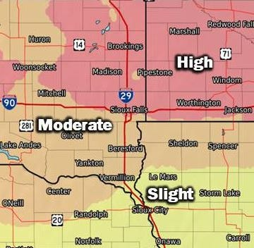 NWS: Sioux Falls could get 6 inches of snow this weekend