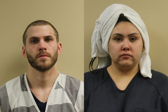 Kurtis Duke and Nikita Zambrano-Ross, both from Sioux Falls, were arrested after a traffic stop meth bust in Watertown. Zambrano-Ross' mugshot features her hair wrapped in a towel.