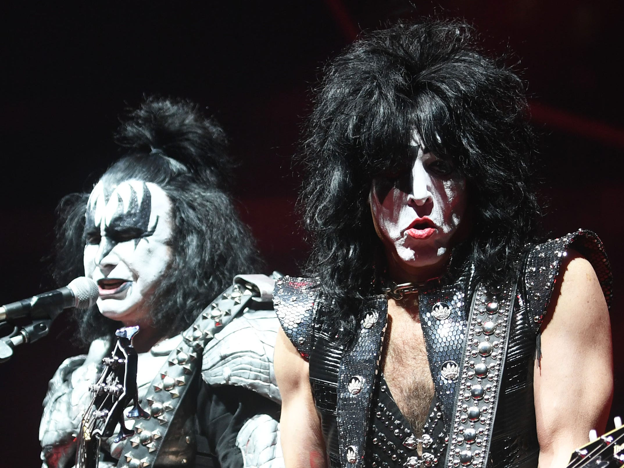 KISS performs during the KISS End of the Road World Tour Wednesday, March 6, at the Denny Sanford Premier Center in Sioux Falls. The line up included lead vocalist Paul Stanley, bassist Gene Simmons, guitarist Tommy Thayer and drummer Eric Singer.