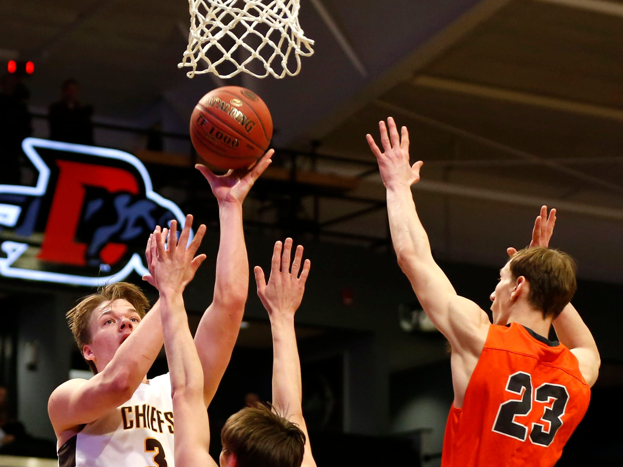 The Kickapoo Chiefs take on the Republic Tigers in Class 5 sectionals at the O'Reilly Family Event Center on Wednesday, March 6, 2019.