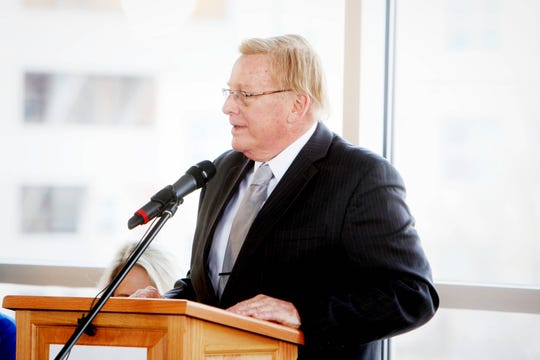 Springfield Mayor Ken McClure speaks during a press conference at the Discovery Center on the 9th annual Birthplace of Route 66 Festival and Car Show Aug. 9-10.