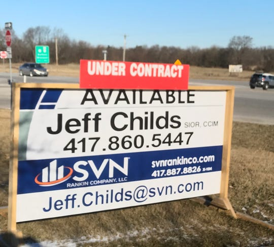 """A reader recently noticed this """"under contract"""" sign near the building that once served as the sales office for the Highland Springs residential development."""