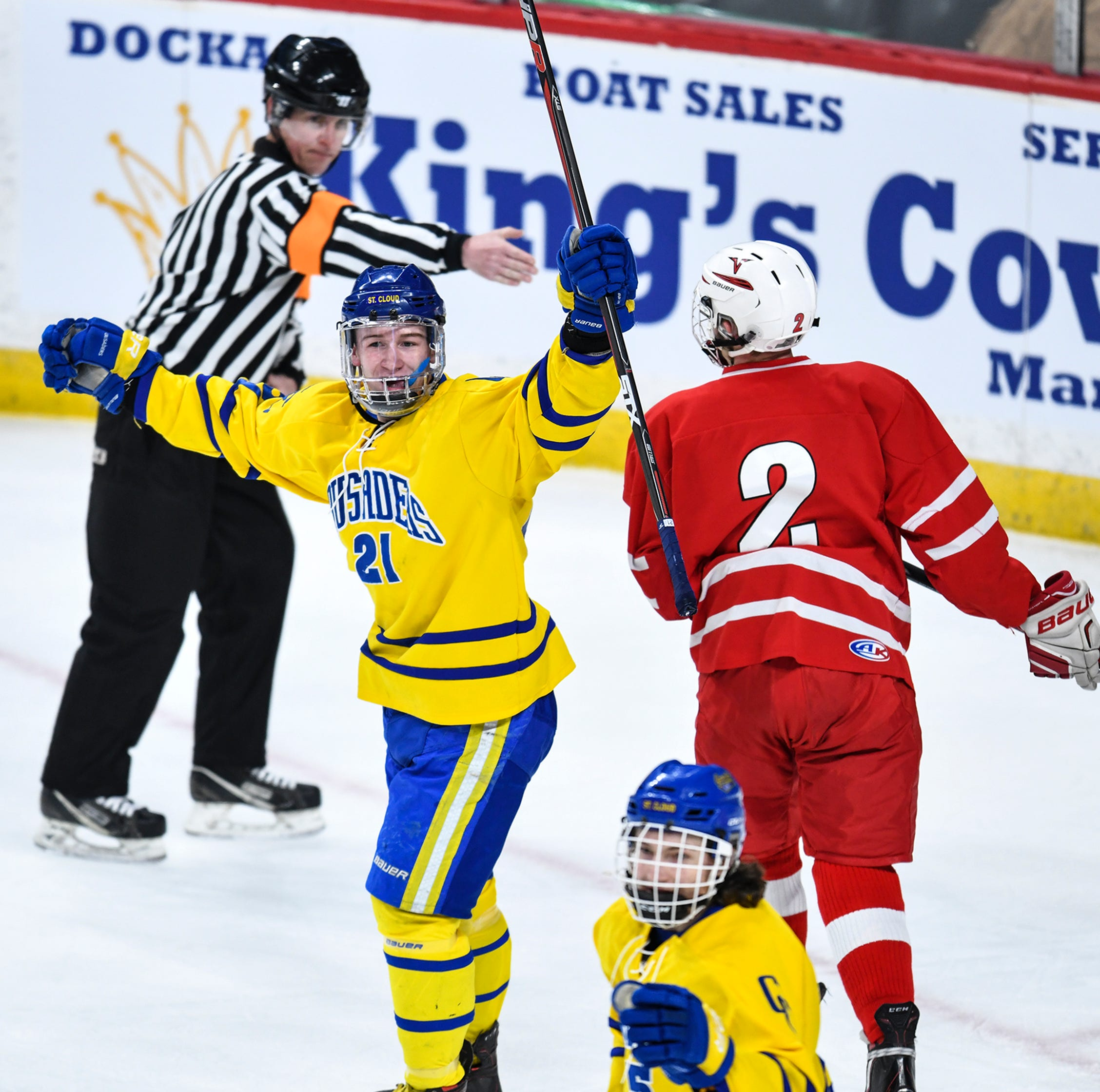 Live updates: Cathedral vs. East Grand Forks in hockey semifinals