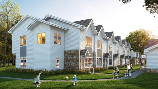 Six buildings made up of six town home units will will be part of the Bluffs at Liberty Glen affordable housing community.