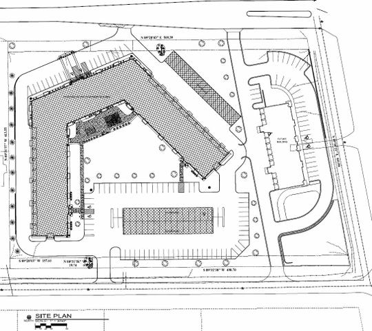 One 84-unit apartment building and a 16-unit building with four retail tenant spaces is planned for Crest View Village in south St. Cloud.