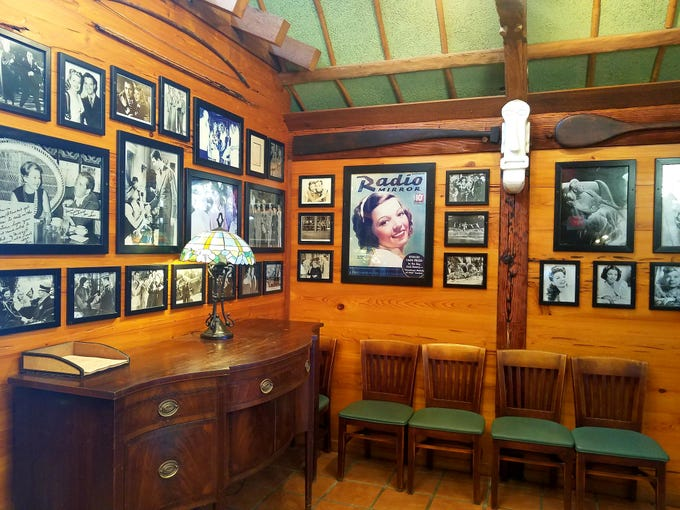 The Dolphin Bar & Shrimp House is adorned with memorabilia.