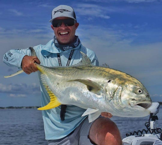Matt George tangled with this giant jack crevalle last weekend just offshore of Martin County.