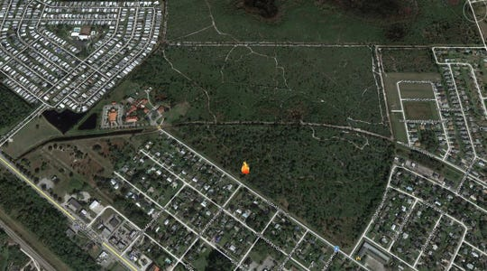 A 20-acre wildfire started in Indiantown Thursday.