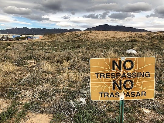 This vacant, 44 acres of land, at Interstate 10 and Paseo del Norte Boulevard, is owned by El Paso businessman Paul Foster. The city plans to trade  2,313 acres of El Paso Water board-controlled land for Foster's land to lure a Great Wolf Lodge on the acreage.