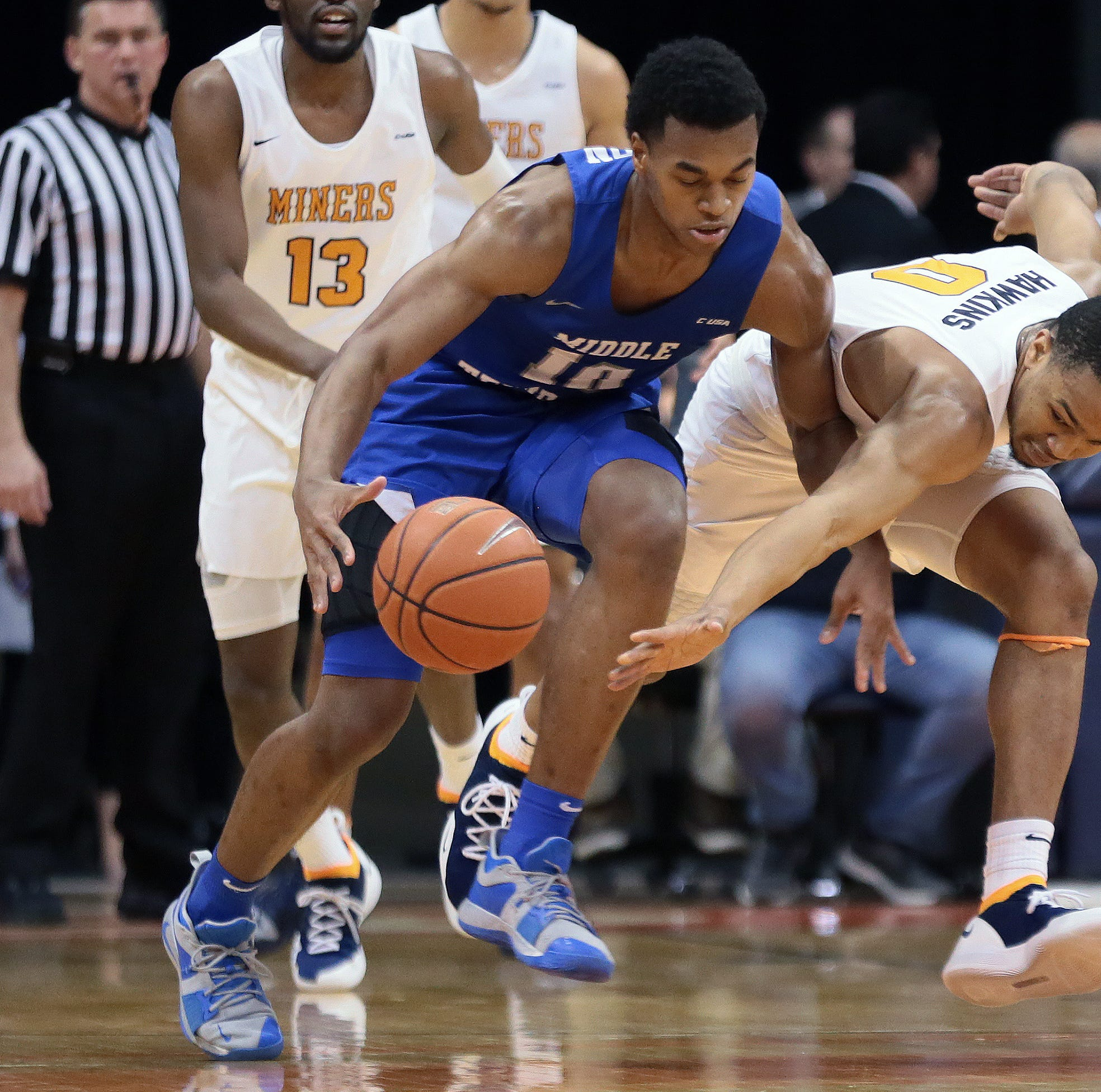 UTEP men finishes the season with just eight wins, loses at Middle Tennessee 48-47