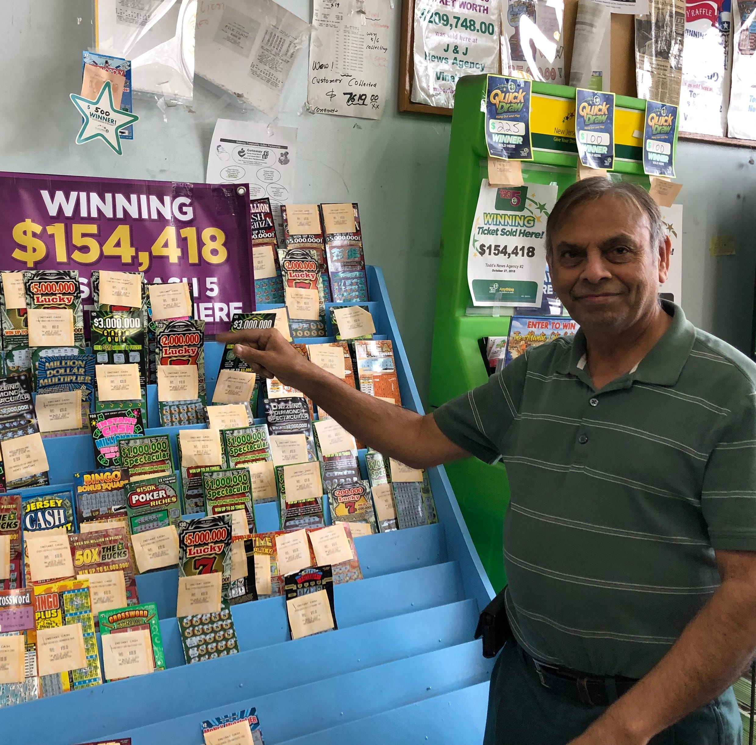 $2M winning scratch-off lottery ticket sold in Vineland