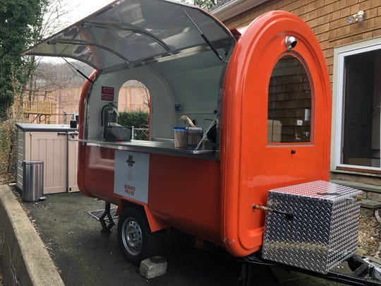 The new fry cart from Bongo's Fries.