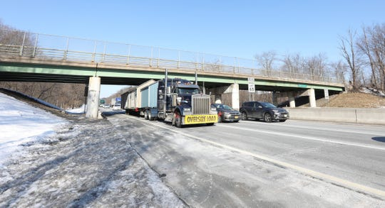 The Hungry Hollow Road overpass in Chestnut Ridge on Thursday, March 7, 2019.
