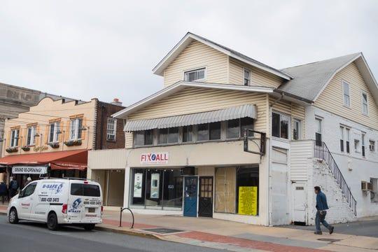 The old Abbott's Shoe Repair building on Main Street in Newark.