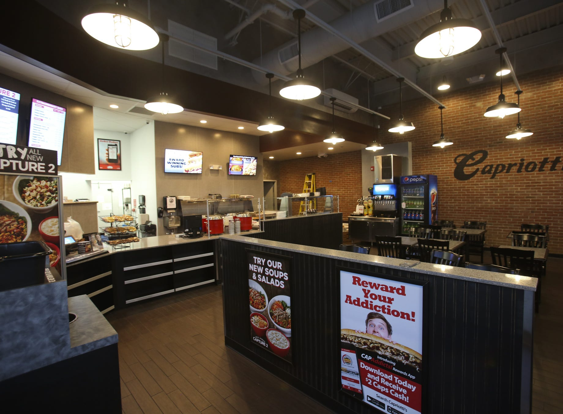 The new Capriotti's Newark location, across from the old one in the Newark Shopping Center, opened in 2016.