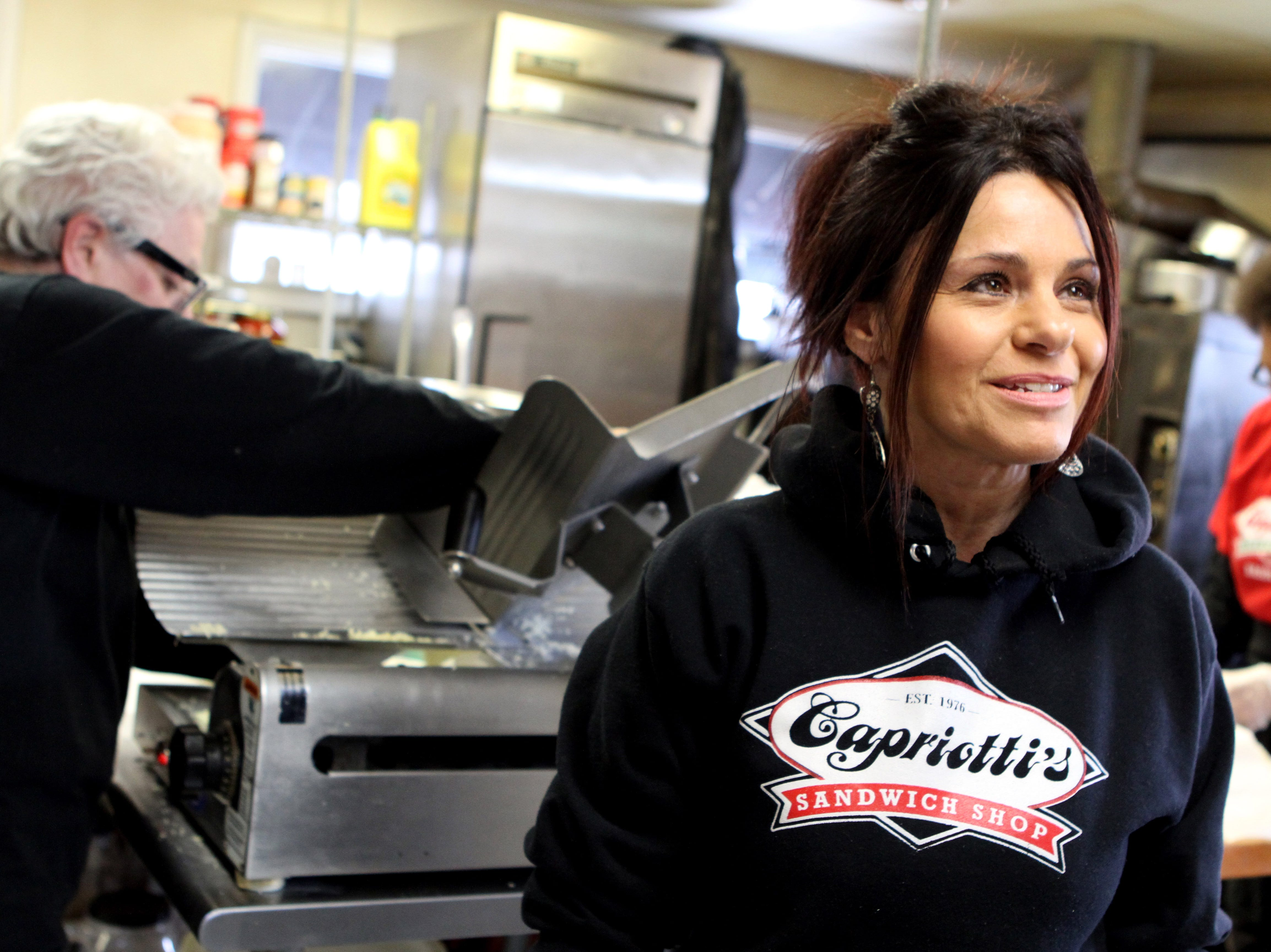 Cindy Cutler at Capriotti's in New Castle in 2014.