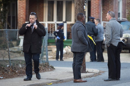 Wilmington Police investigate a shooting at the intersection of North Washington and 35th Streets March 7.