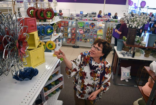 Teresa Brantley was one of the first customers to shop at the new Gordmans store during its grand opening Wednesday in Burkburnett.