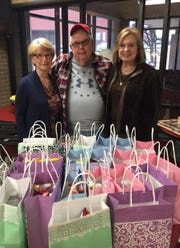 Members of the Christ United Presbyterian Church handed out personal goody bags to houseguests at Rathgeber Hospitality House.  This is a semi-annual event for the church that the houseguests really appreciate. Rathgeber House is a place for families to stay while they have a loved one receiving medical care in Wichita Falls.  Pictured: Dora Alexander, Chaplin Bob Brown, and Judy Patterson.