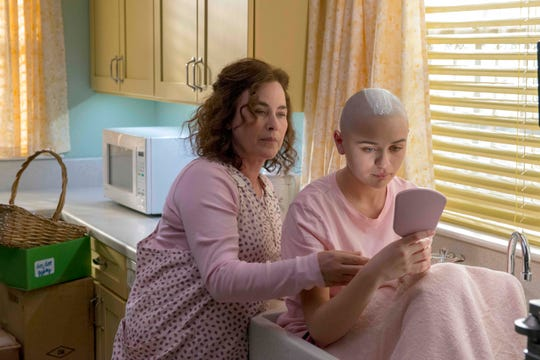 "Dee Dee Blanchard (Patricia Arquette) and Gypsy Rose Blanchard (Joey King) in ""The Act."" (Photo: Brownie Harris/Hulu)"