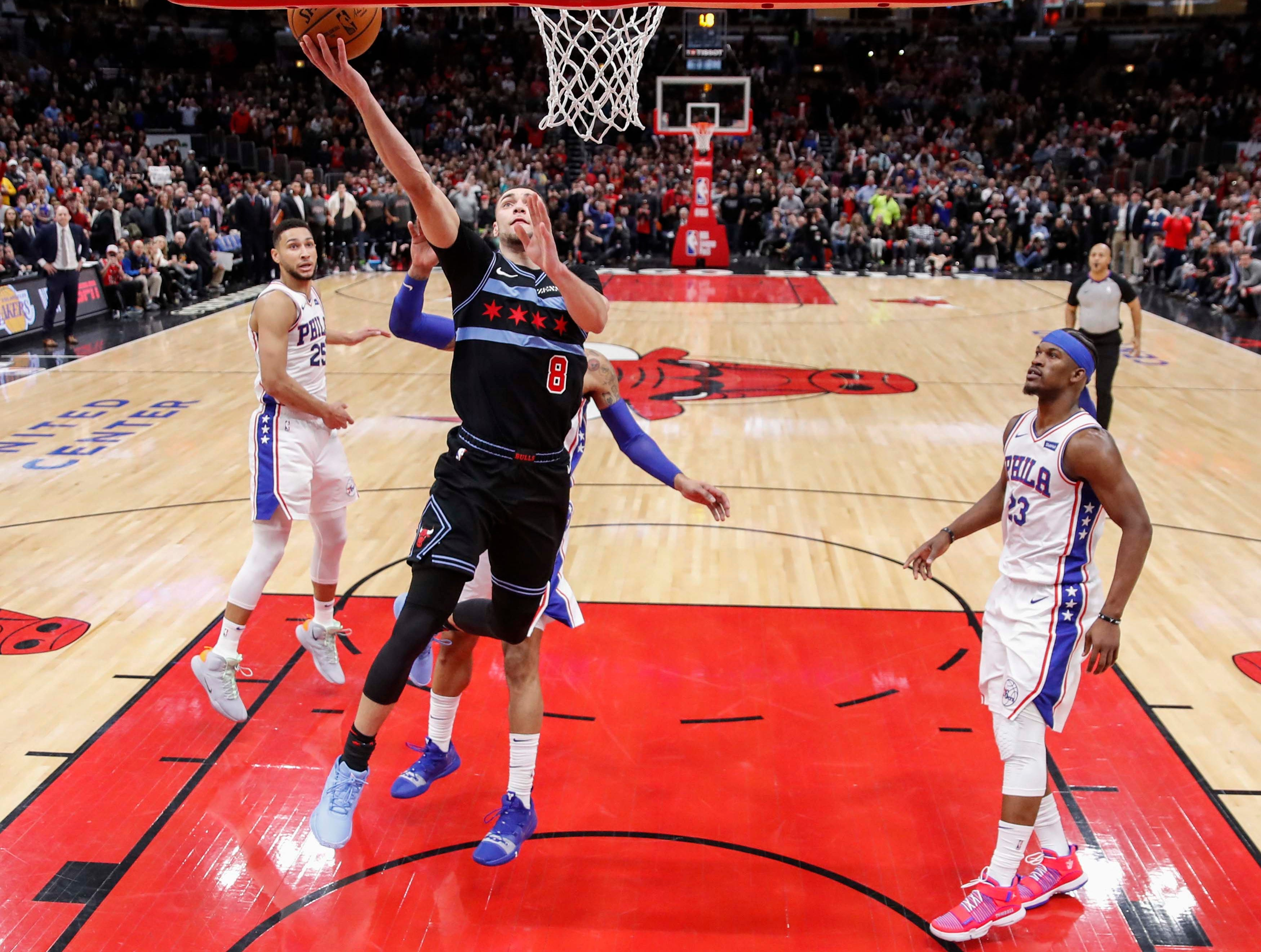 Bulls hang on to beat 76ers after bizarre ending sees final play run twice