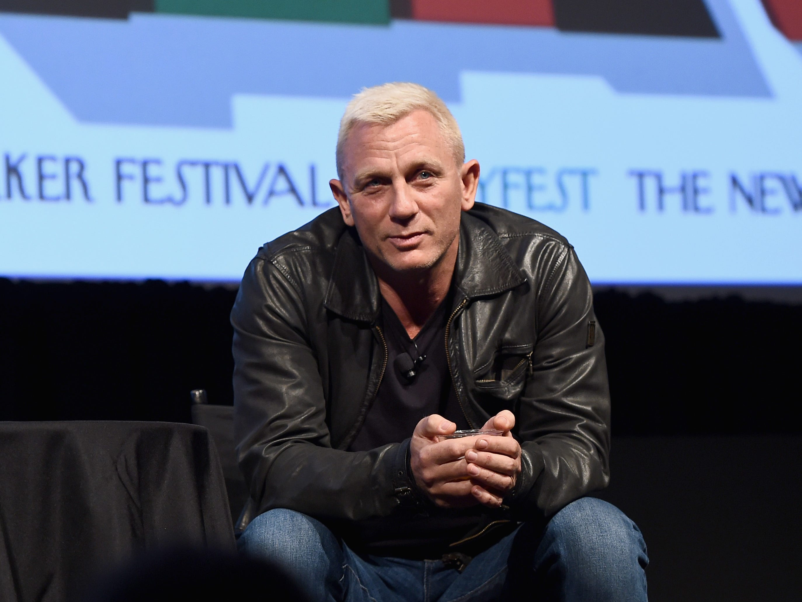 NEW YORK, NY - OCTOBER 07:  Actor Daniel Craig speaks onstage during The New Yorker Festival 2016 - Daniel Craig Talks With Nicholas Schmidle at MasterCard Stage at SVA Theatre on October 7, 2016 in New York City.  (Photo by Ilya S. Savenok/Getty Images for The New Yorker) ORG XMIT: 675028603 ORIG FILE ID: 613264744