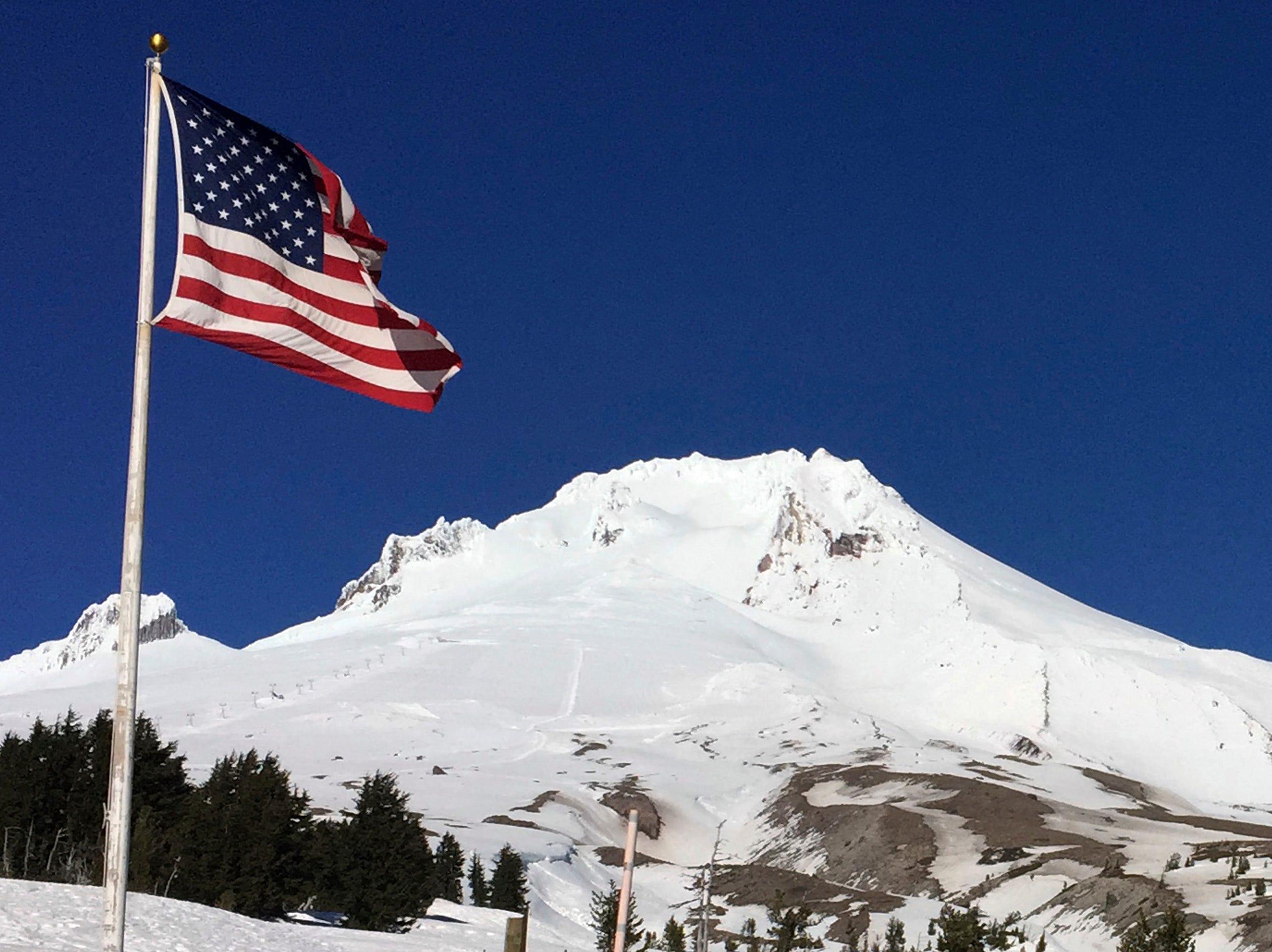 37. Oregon > Highest peak: Mount Hood > Elevation above sea level: 11,239 ft. > Coordinates: 45.4° N, 121.7° W
