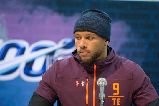 Notre Dame tight end Alize' Mack is among NFL draft prospects who dismiss long-term impact from concussions.