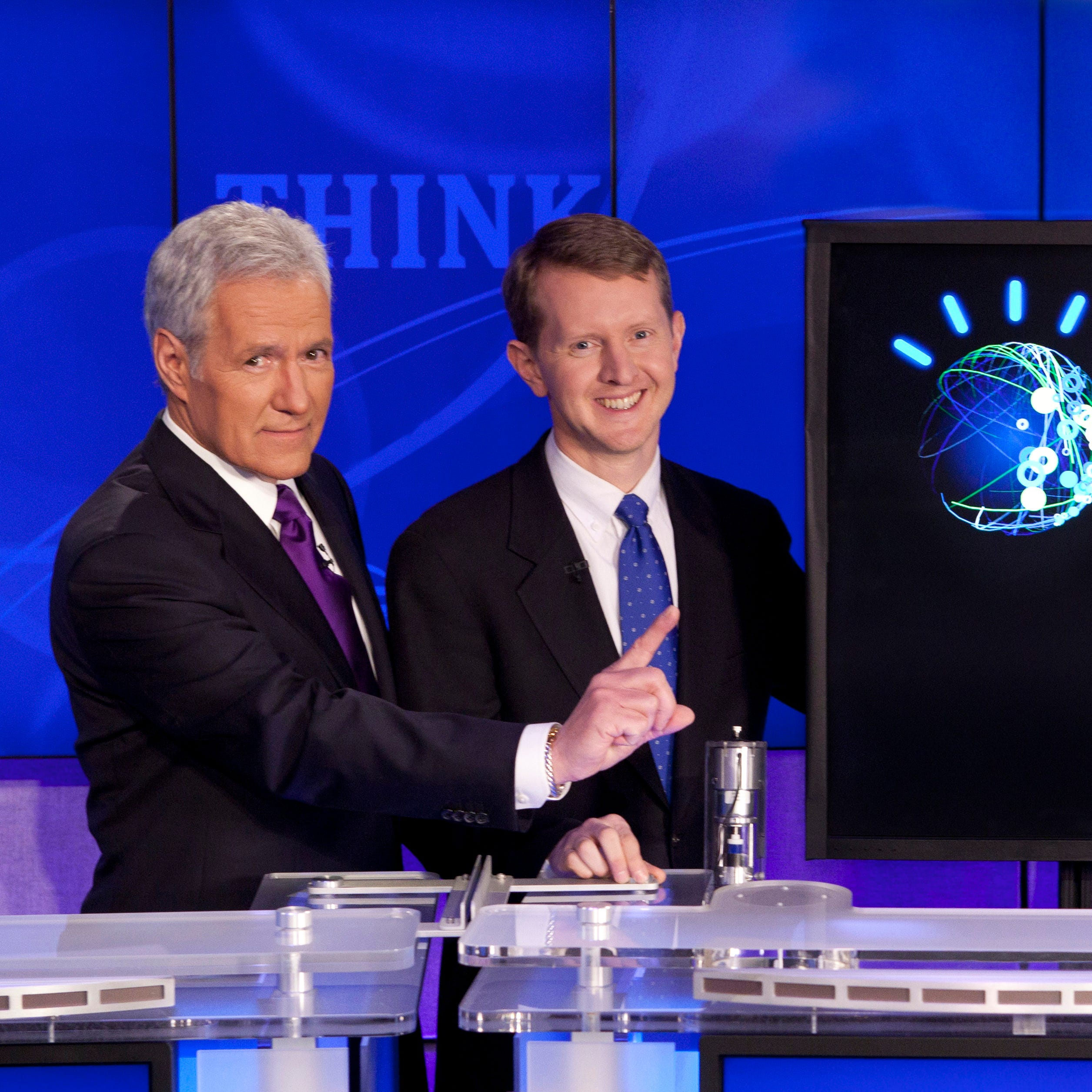 Alex Trebek and Ken Jennings.