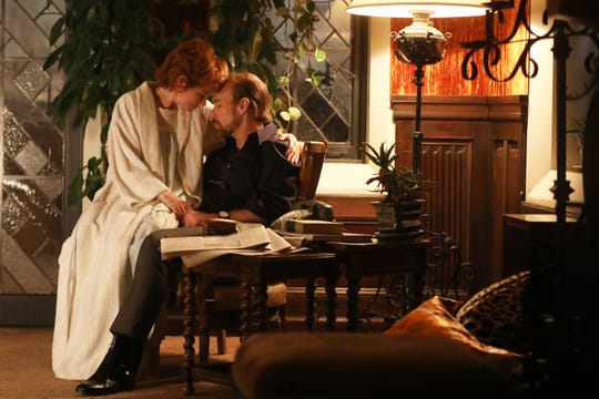 "Michelle Williams as Gwen Verdon and Sam Rockwell as Bob Fosse on ""Fosse/Verdon."""