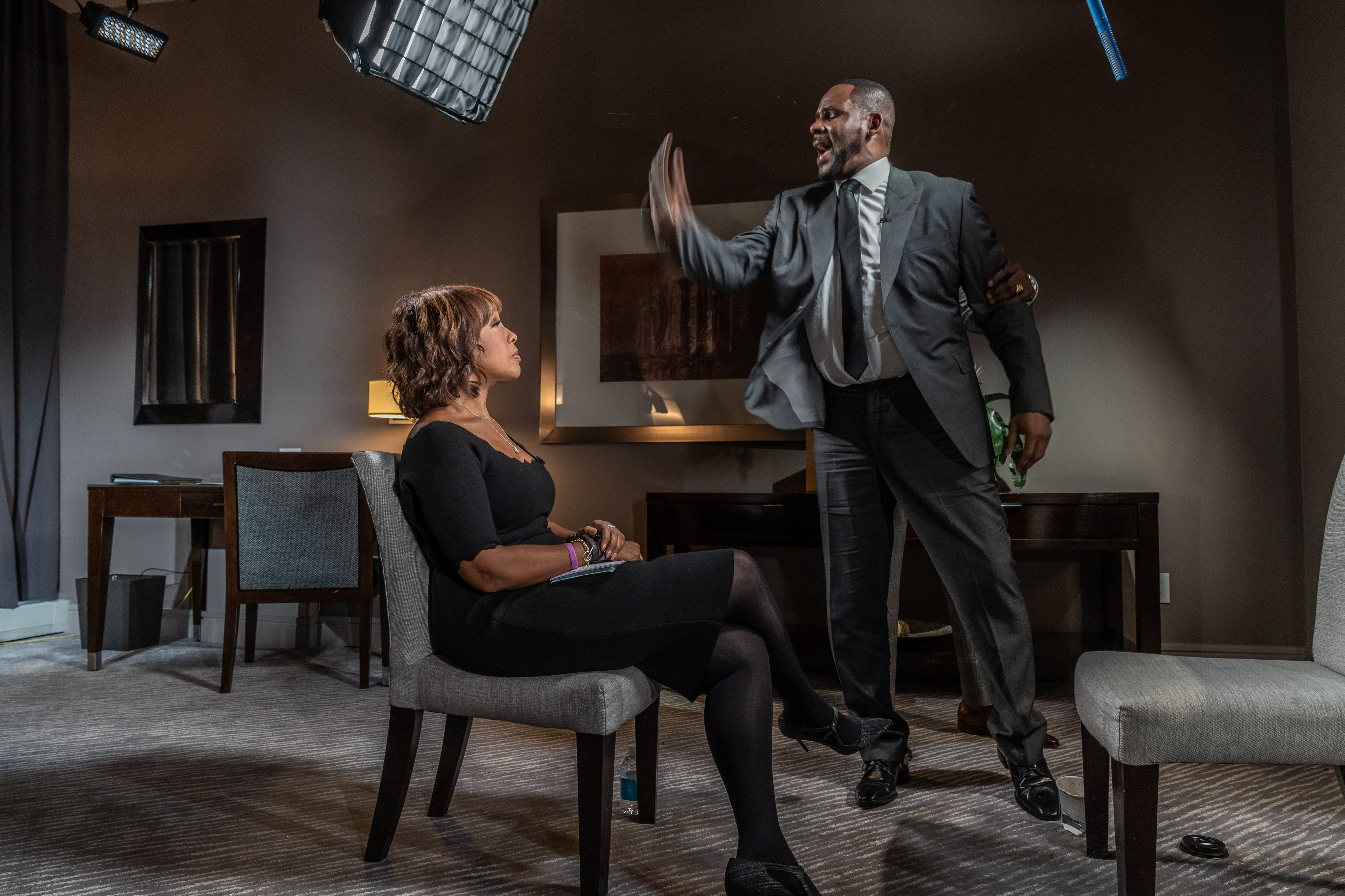 CBS THIS MORNING co-host Gayle King sat down with R&B singer R. Kelly Tuesday in Chicago for his first television interview since he was arrested on 10 sexual abuse charges.