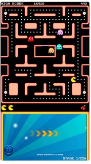 """""""Ms. Pac-Man"""" is among the games available to play on mobile devices, priced at $3.99 for Android and Apple iOS."""