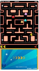 """Ms. Pac-Man"" is among the games available to play on mobile devices, priced at $3.99 for Android and Apple iOS."