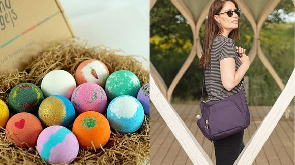 Bath bombs and versatile bags top the list of things women love on Amazon.