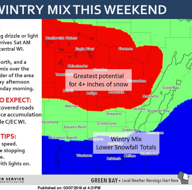 Wisconsin weather: Messy mix of rain and snow with mild weather expected this weekend