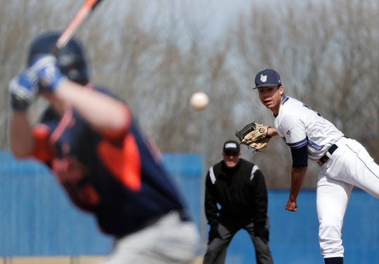 Chris Shaw, a 6-foot-8 left-hander, is the top returning pitcher for the Lawrence University baseball team.