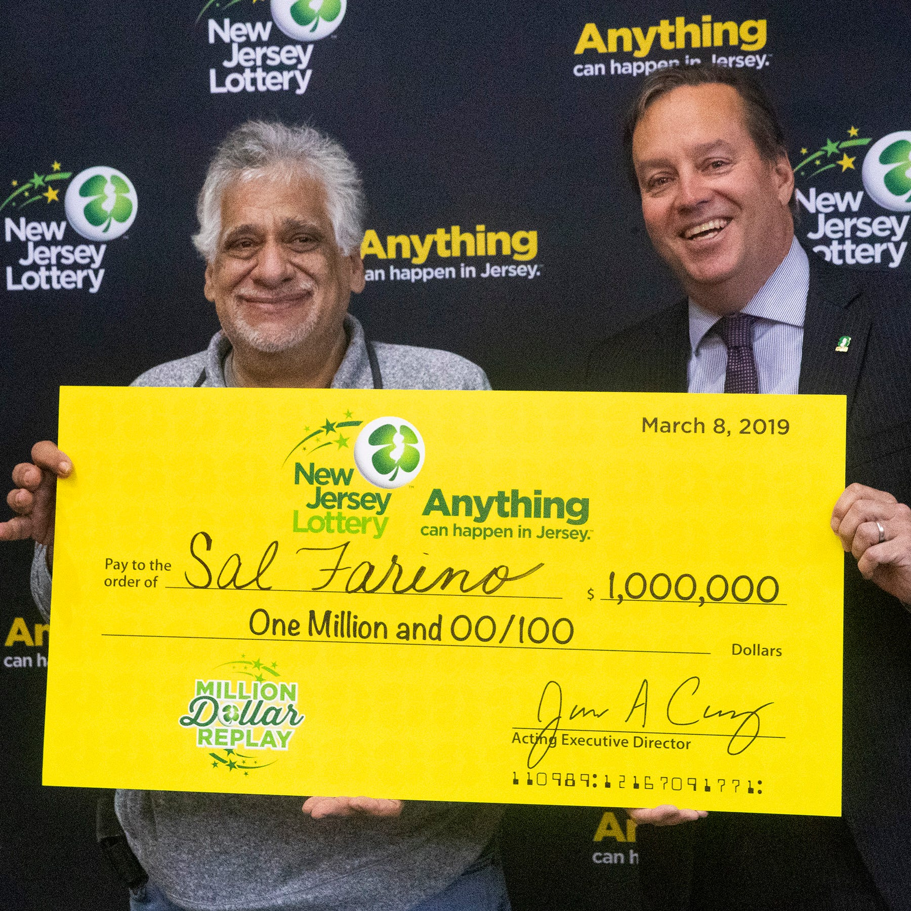 NJ man who just retired wins $1 million in Asbury Park