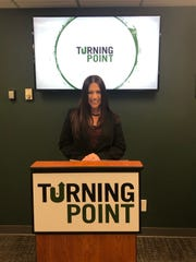 Holly Santore at a recent ribbon-cutting event for Turning Point