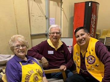 Abilene Cactus Lions Club members Dean Baird, Hal Griffin and Ozzie Trevino greeted guests and collected tickets at the club's annual fundraiser.