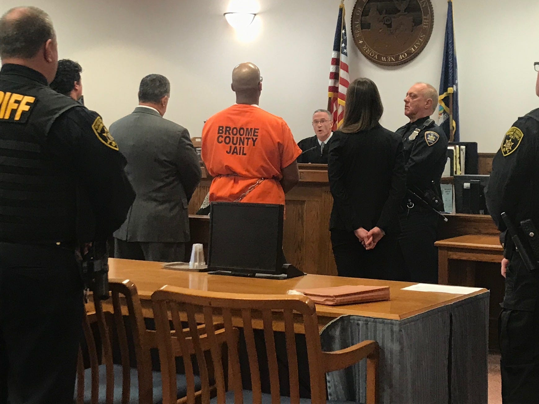 Aaron Powell was sentenced to life without the possibility of parole for the murders of two Town of Binghamton residents in 2013.