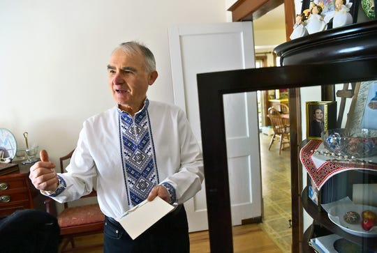 "Lubomyr Zobniw keeps many mementos of his late wife Maria K. Zobniw, or ""Mima"" as she was affectionately called, in his Binghamton home. Maria was killed in the April 2009 mass shooting at the American Civic Association."