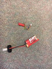The Kitsap County Sheriff's Office provided this photo of the remote control car battery a student brought to the principal's office Friday morning.