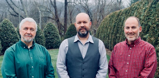 Brad Daniel, left, Brad Faircloth, middle, and Andrew Bobilya opened 2nd Nature TREC, a consulting firm that works with outdoor-related entities, in Black Mountain.