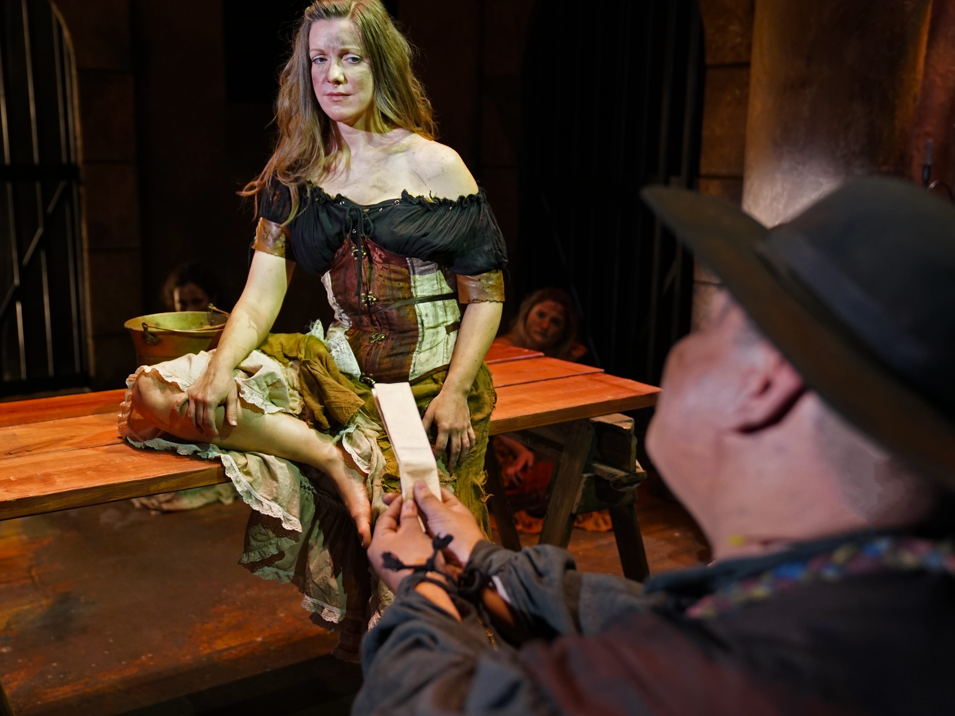 """Mary Henderson plays """"Aldonza"""" in Titusville Playhouse's production of """"The Man of La Mancha."""" The show runs through March 17th. For tickets or more information, visit titusvilleplayhouse.com"""