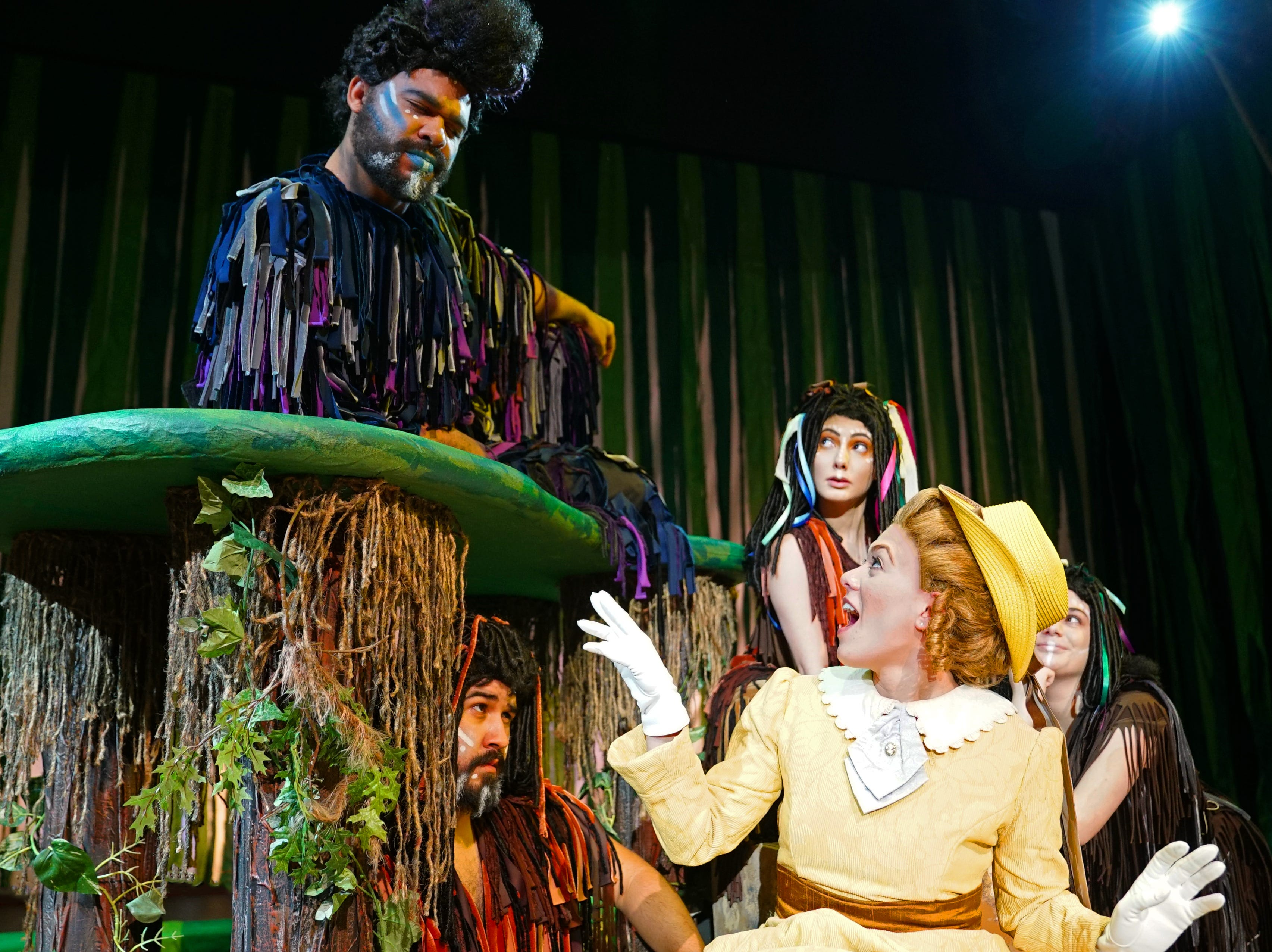 """Donnie Gethers plays """"Adult Terk"""" and Corinne Marie plays """"Jane""""  in """"Tarzan,"""" the stage musical based on the Disney film on stage at the Henegar Center in Melbourne through March 24th. For tickets or more information, visit henegar.org"""