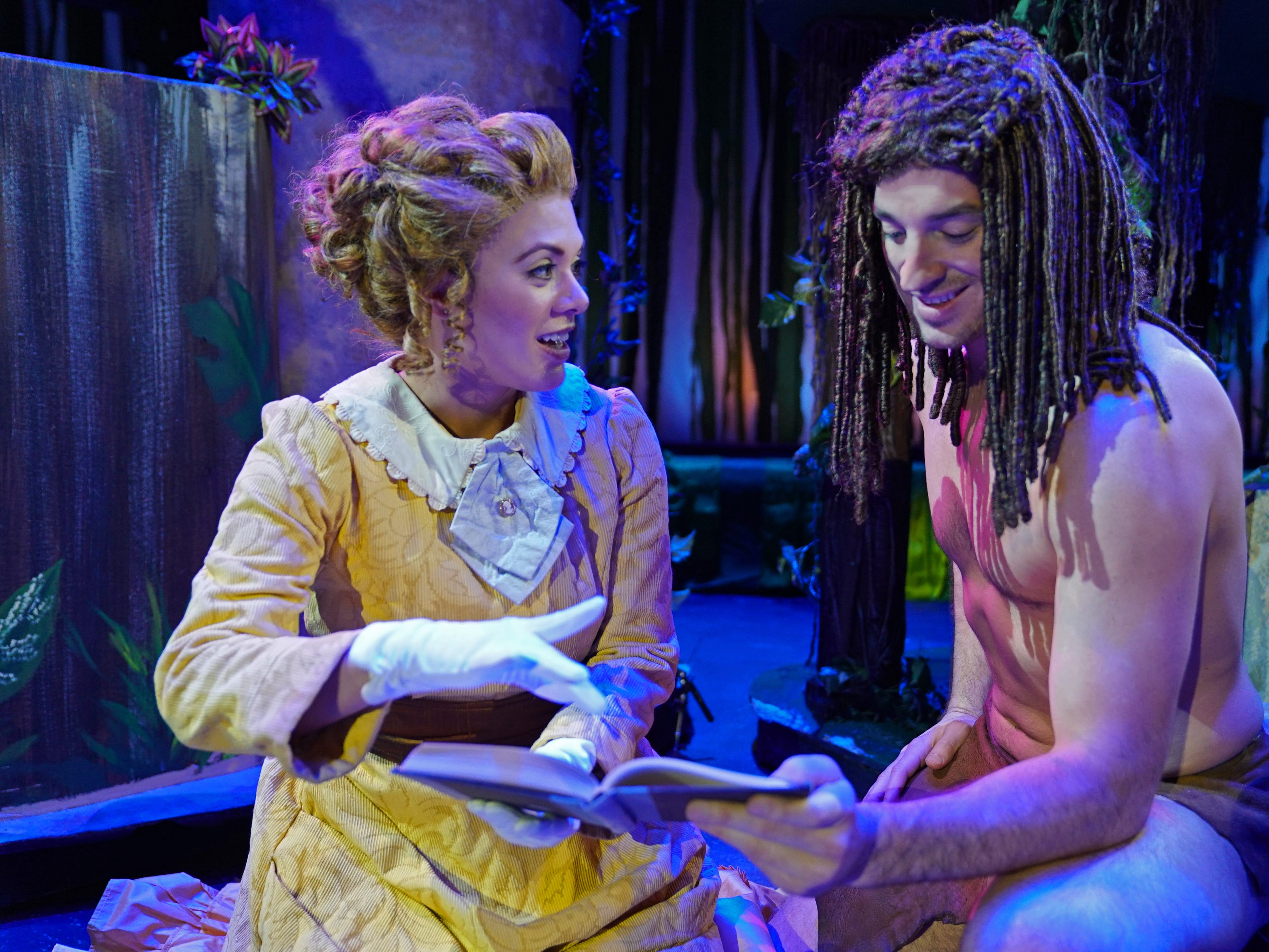 """Corinne Marie plays """"Jane""""  and Joe Horton plays the title role in """"Tarzan,"""" the stage musical based on the Disney film on stage at the Henegar Center in Melbourne through March 24th. For tickets or more information, visit henegar.org"""