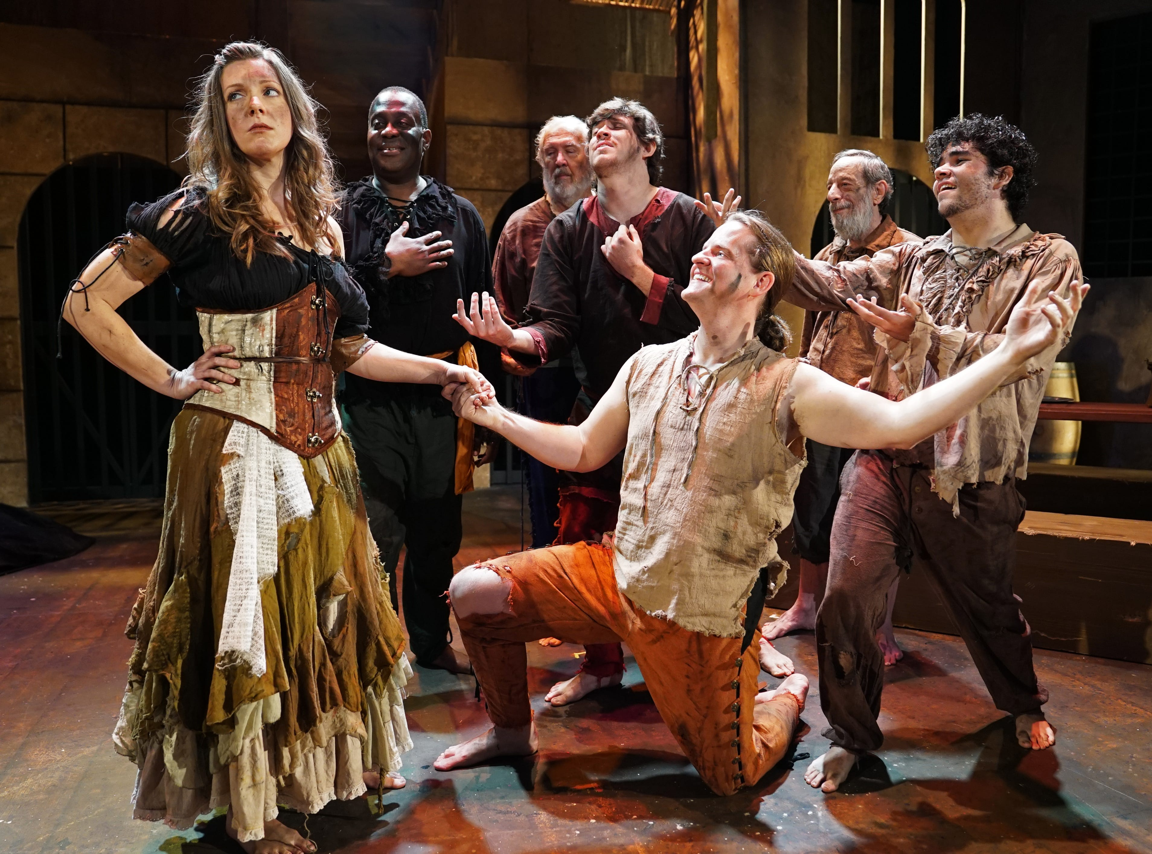 """Actors take the stage in Titusville Playhouse's production of """"The Man of La Mancha."""" The show runs through March 17th. For tickets or more information, visit titusvilleplayhouse.com"""